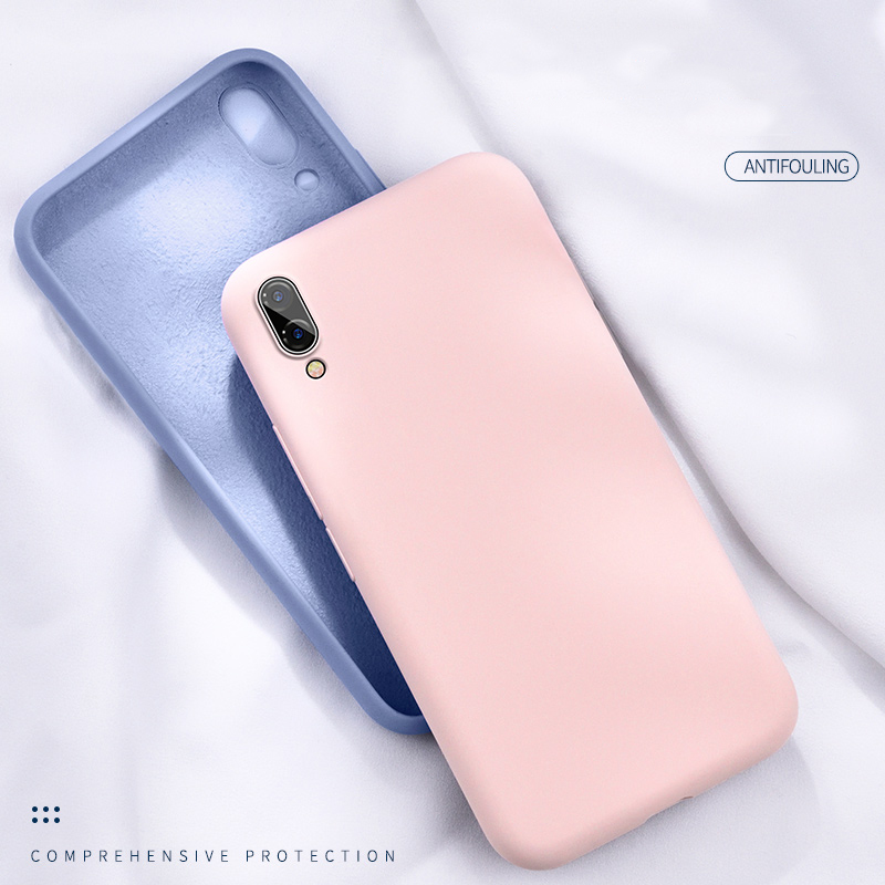 Pure Color <font><b>Silicone</b></font> <font><b>Case</b></font> for <font><b>Huawei</b></font> P20 Lite P Smart 2019 P30 Pro Mate 20 <font><b>Mobile</b></font> for Honor 8X <font><b>Nova</b></font> <font><b>5t</b></font> 3i 9 10 20 S Y5 Y7 Y9 image