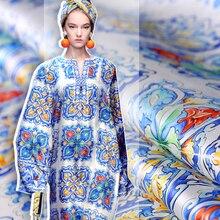 Tissu en Organza 100% soie mûre, respirant, jupe bouffante douce confortable, tissu imprimé, matériel de couture Alibaba Express
