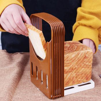 Przenośny krajalnica Toast Cutter toster urządzenie do krojenia składany regulowany bochenek Cutter Rack prowadnica tnąca narzędzia do domu tanie i dobre opinie CN (pochodzenie) Siekacze do ciasta Ekologiczne Bread Slicer Z tworzywa sztucznego Narzędzia do pieczenia i cukiernicze