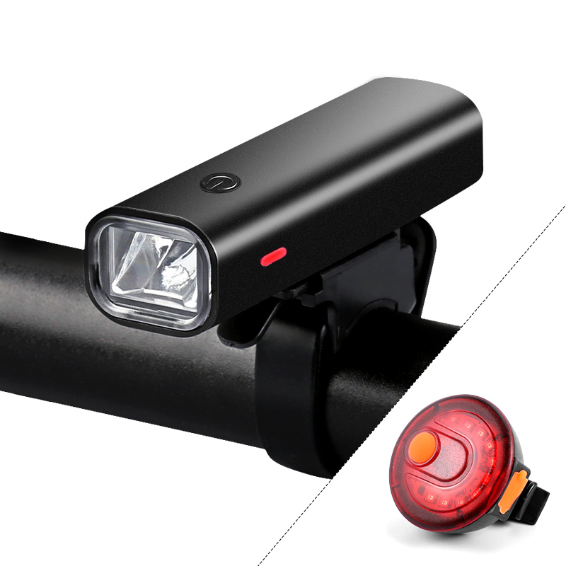 2000mAh Flashlight For Bicycle USB Rechargeable Bike Light Headlamp For MTB Road Cycling Handlebar Front Lamp Lights 400Lumen
