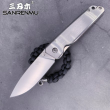 SANRENMU 7096 pocket folding knife handle camping survival edc Rescue Survival Tool knife 12c27 stainless steel blade full steel