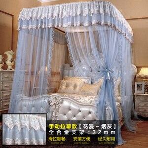 Image 4 - Moda elétrica mosquito net casa 1.8 m cama ferroviário polia nova grossa princesa cortinas cama mosquiteiro decoração para casa