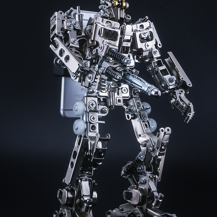 Mech World all-metal deformation 4 King Kong Optimus Prime robot model assembly kit action figures mobile phone holder for boys