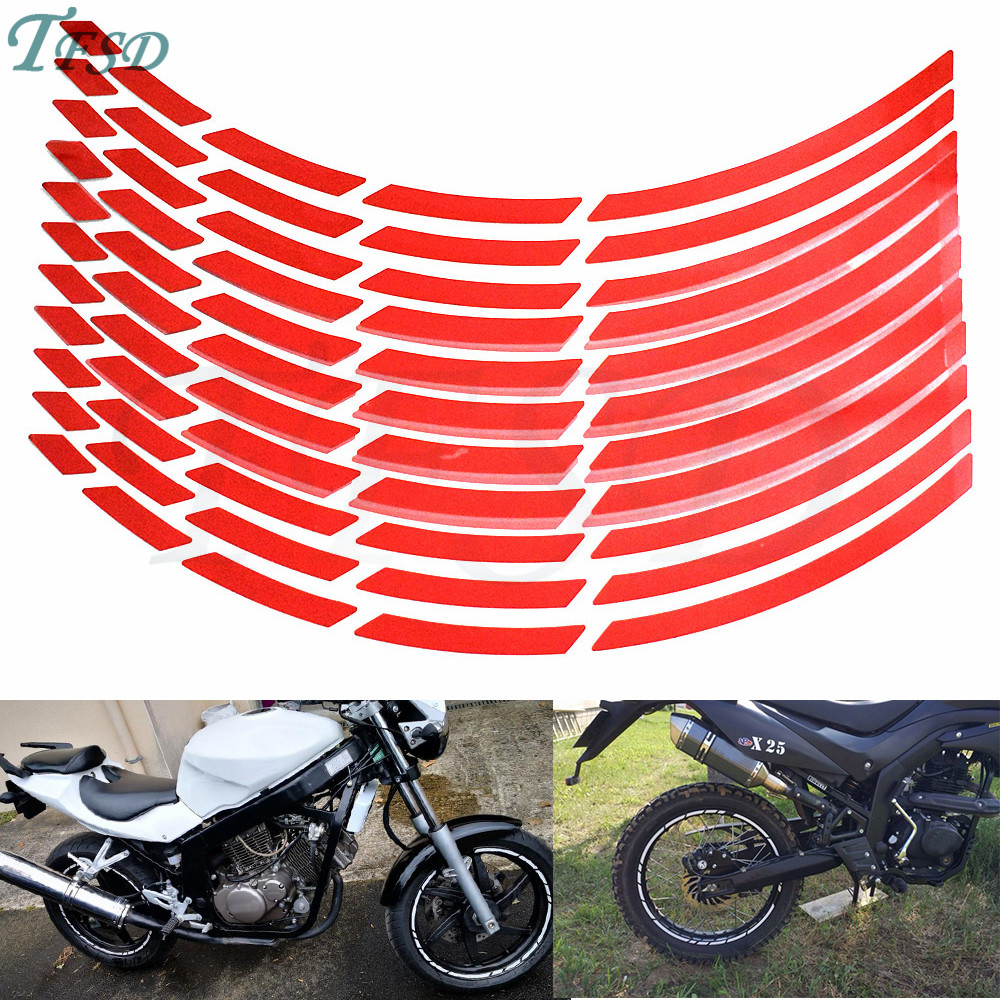 17 To 19 Inch Car Motorcycle Tire Rim Applique Reflective Tire Sticker Decoration For Yamaha FZ1 FAZER FZ6 FZ6R FZ8 XJ6 FJR1300