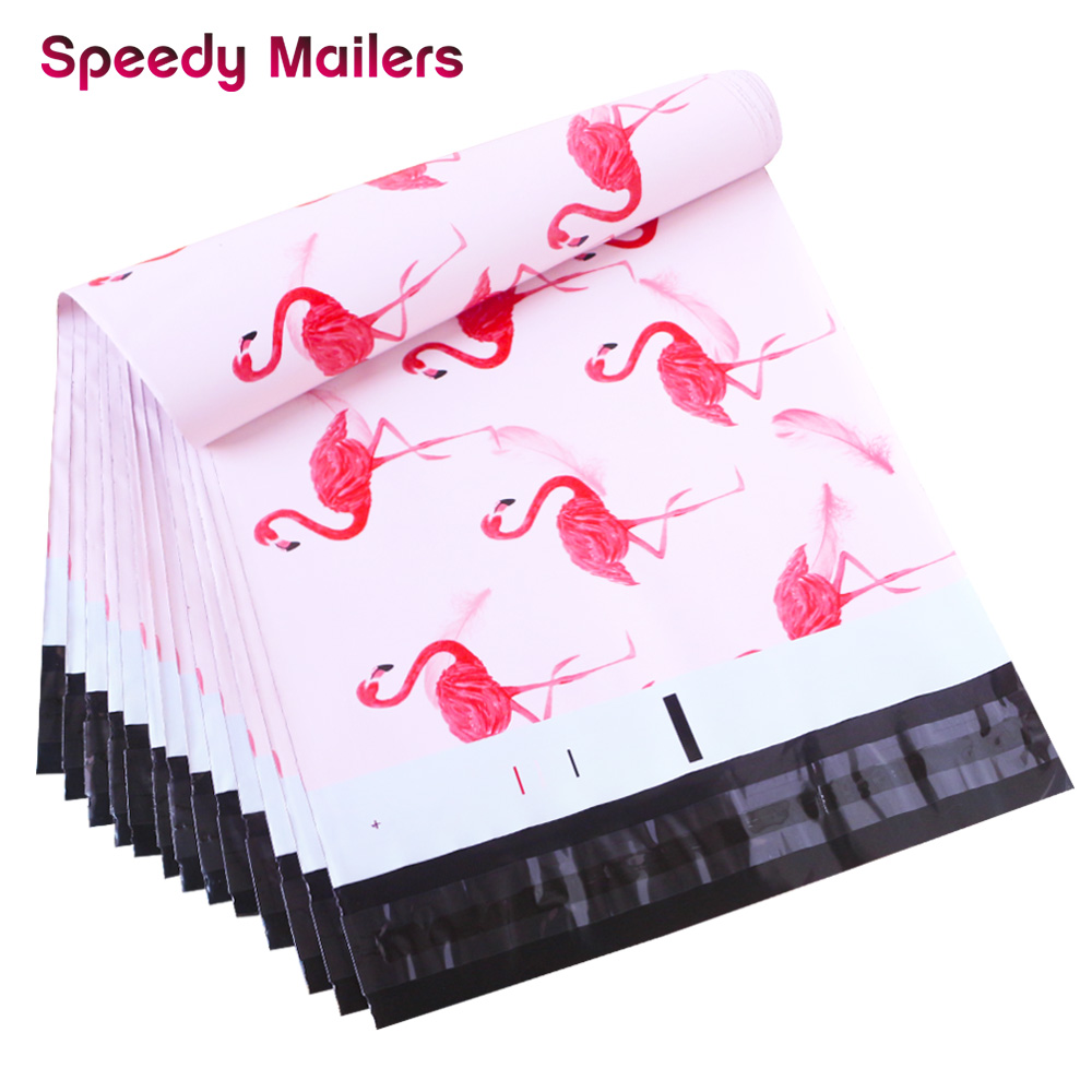 Speedy Mailers 9 Design 10PCS/Pack Colorful Poly Mailer Creative Printing Poly Mailer Self Seal Plastic Packing Envelope Bags