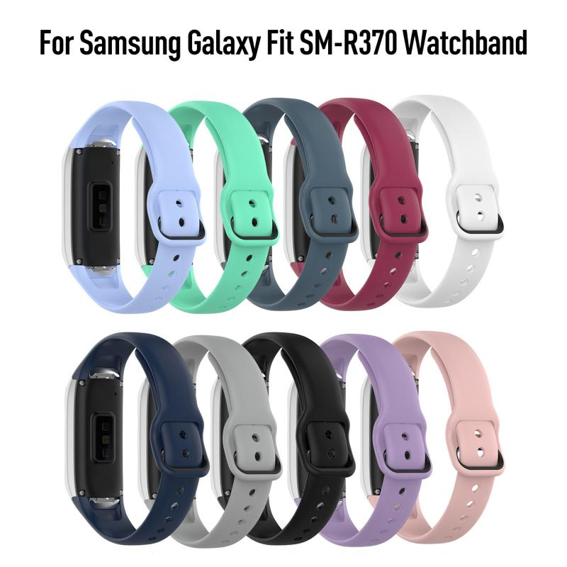 Silicone Watchband For Samsung Galaxy Fit SM-R370 Strap Solid Color Wristband Strap For Samsung Galaxy Fit SM-R370