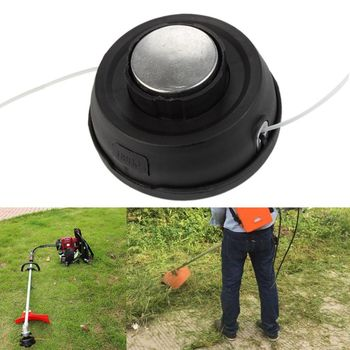 Universal Aluminium Trimmer Head Line String Garden Grass Brush Cutter Strimmer Tool for Lawn Mower new garden weeder accessory parts universal grass trimmer nylon line coil garden strimmer lawn mower fitting ornament red