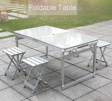 Регулируемый алюминиевый стол для кемпинга 120*70 см