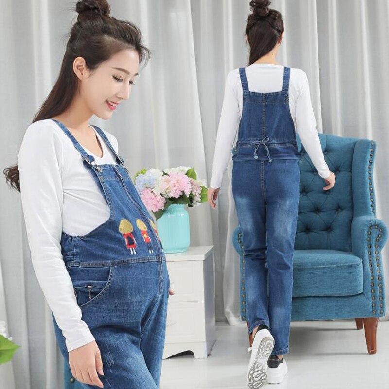 Women Jeans Maternity Pants Femme Enceinte Jeans Pants Suspenders Maternity Uniforms Maternity Pregnant Clothing Hamile Pants