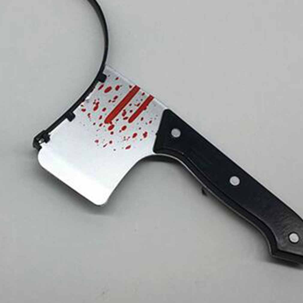 Halloween Headband Cosplay Props hair accessories Kitchen Knife tidy simulation plastic head knives scissors Novelty funny toy