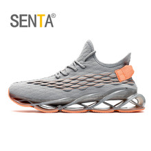 SENTA Blade Reflective Running Shoes for Men Breathable Mesh Sneakers Non-Slip C