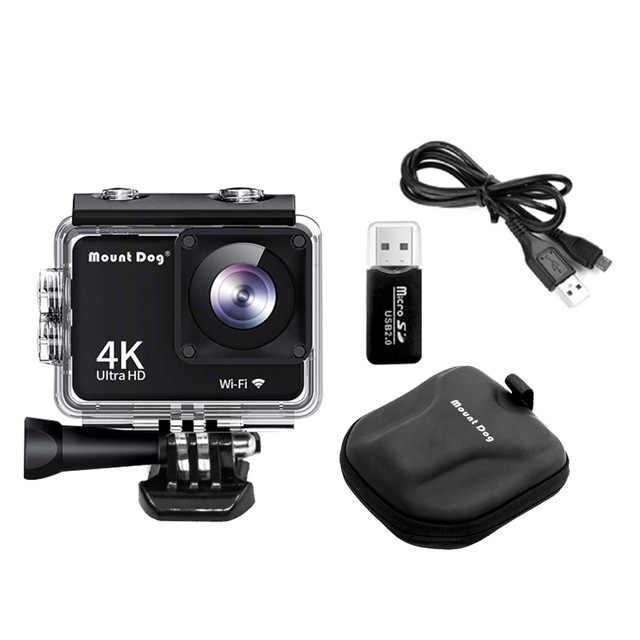 MountDog Go 4K Action Camera Pro Ultra HD WiFi Remote Control Sports Video Cam Recorder DVR Waterproof Case Camera accessories