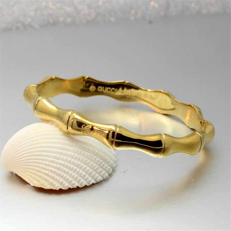 גבוהה באיכות נירוסטה זהב במבוק צמידים וצמידים לנשים טיטניום רוז זהב תכשיטים ילדה חבר מתנות