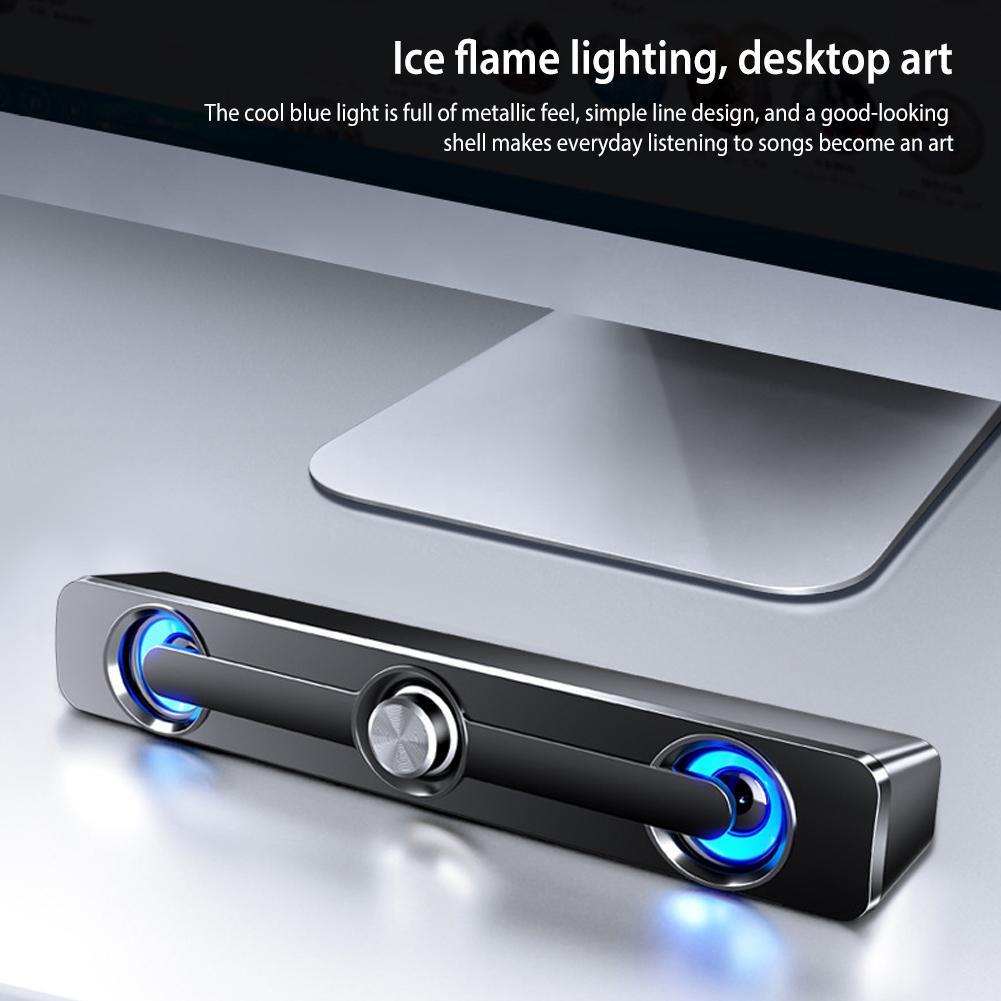В-111 диктор компьютера USB проводная мощный бар 9Д стерео сабвуфер Bass 2 динамик для ПК ноутбук телефон планшет объемный звук коробка