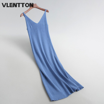 Autumn Winter 12 Color Sexy V-Neck Sleeveless Knitted Maxi Dress Women Solid Long Bodycon Party Sweater Dresses Ladies Vestidos free shipping 2020 sexy v neck sleeveless maxi dress sexy v neck solid color floor length party dress women satin dress ft5035