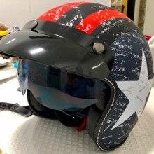 제트 헬멧 모토 rcycle 오픈 페이스 헬멧 레트로 맞춤형 모토 rbike 빈티지 헬멧 capacete 모토 베스파 헬멧 DOT 승인