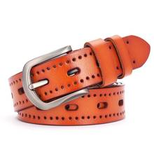 Hollow out Leather Belt For Women Fashion Women Leather Belt