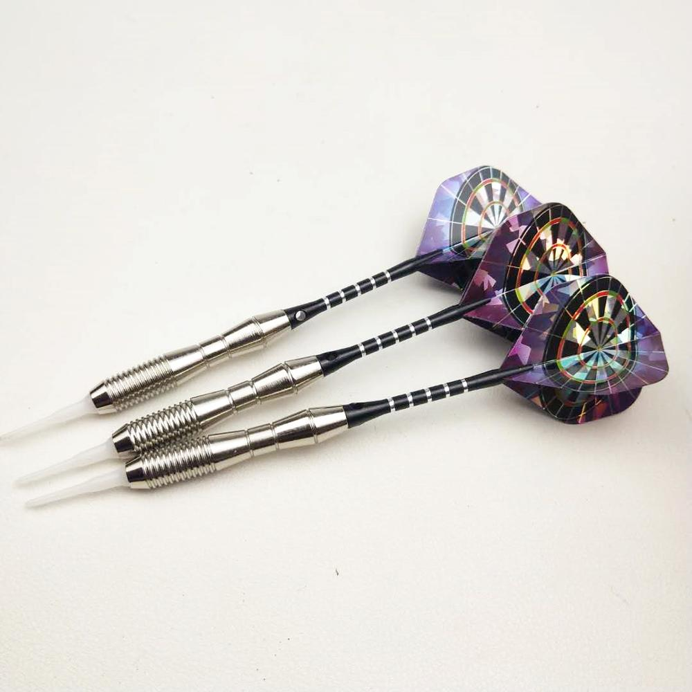 3 Pieces / 18g / Soft Darts Needle Professional Electronic Than With Safety Suit Darts Rod + Laser Leaf