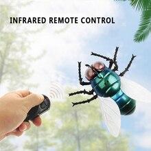 Игрушка насекомое инфракрасный пульт дистанционного управления поддельные мухи животное игрушка смешная RC шутка страшный трюк игрушки для вечерние или хэллоуин день дурака