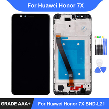 For Huawei Honor 7X LCD Display Touch Screen BND-AL10 BND-L21/L22 Digitizer Assembly Repair Parts Display with Frame Replacement все цены