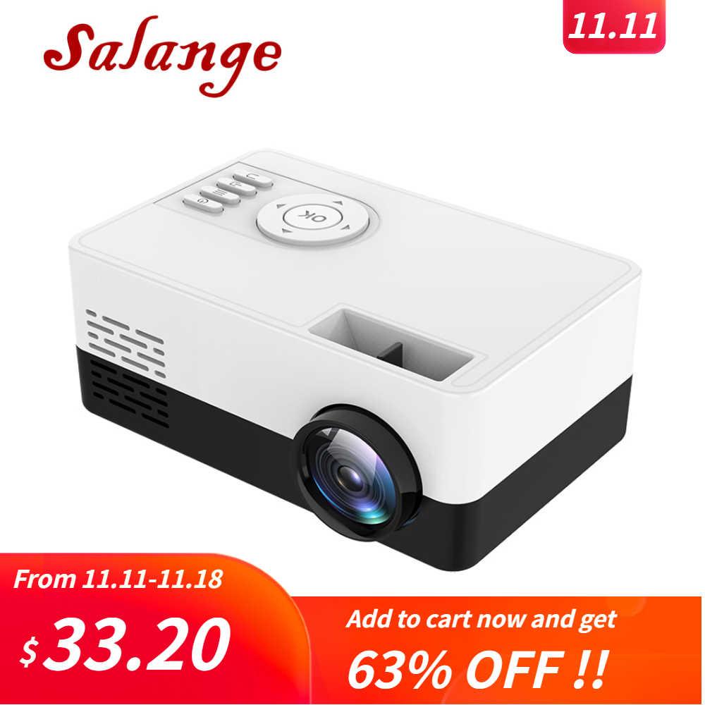 Salange Mini projektor J15, 320*240 pikseli obsługuje 1080P HDMI USB Mini Beamer domowy odtwarzacz mediów dla dzieci prezent
