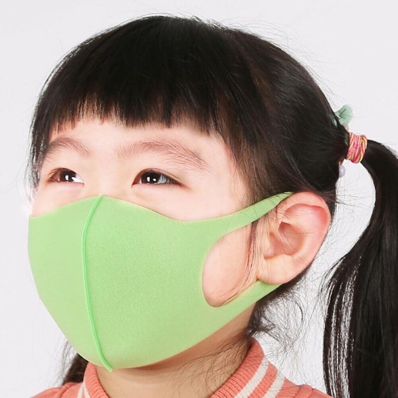 3pcs Children Anti-dust Anti-fog Mouth Mask Sponge Windproof Mouth-muffle Masks Breathable Colorful Mask