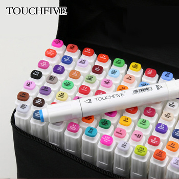 TouchFIVE Marker Pen Set 30/40/60/80/168Colors Art Sketch Markers Manga Alcohol Based Marker Student Design Drawing Supplies 30 40 60 80 168 colors touchfive art markers set alcohol based ink sketch marker pen for artist drawing manga animation supplies