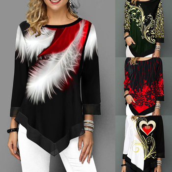 Long-Sleeve-Round-Neck-Female-Print-Shirt