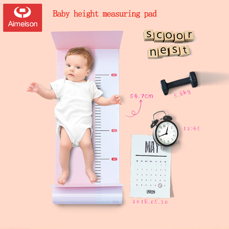Aimeison Baby Infant Height Measuring Pad Baby Height Measuring Instrument Ruler Artifact Accurate Home
