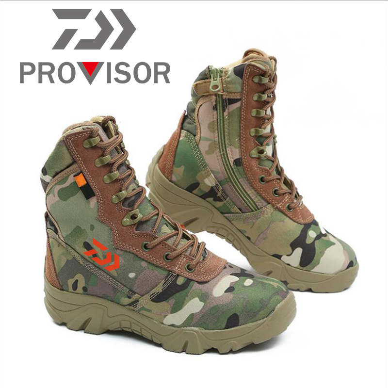 2020 New Daiwa Men Outdoor Shoes Non-slip Fishing Shoes Breathable Winter Shoes Camouflage Keep Warm Climbing Shoes Wading Shoe