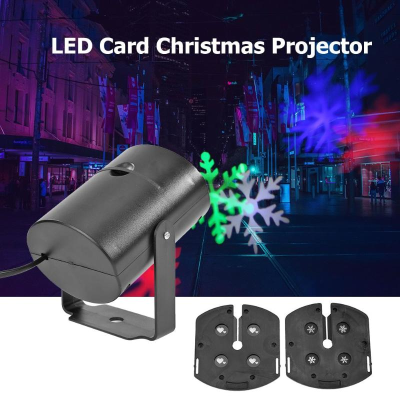 Christmas Pattern LED Laser Projector Colorful Rotating Stage DJ Disco Lamp LED Projection Lamp Colorful Rotating Projector Stag