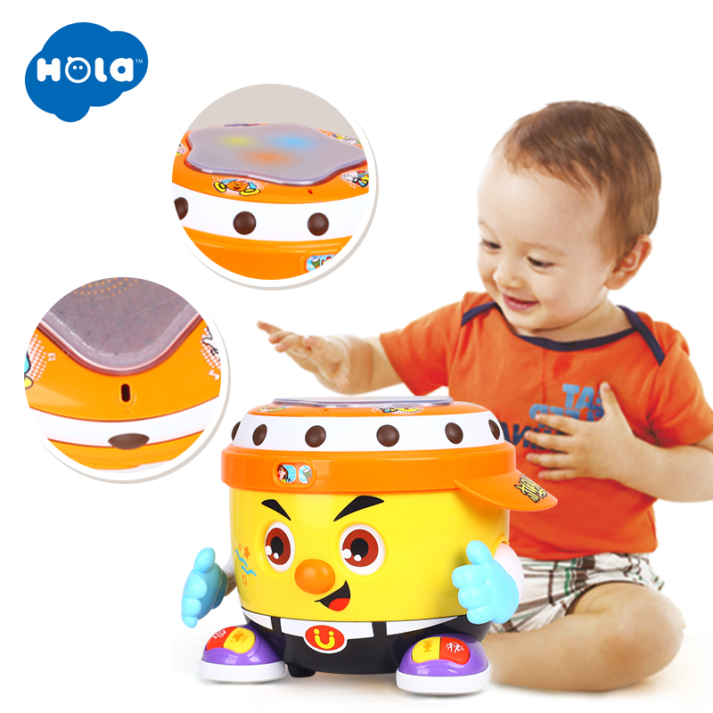 Baby Musical Drum Toys, Learning Educational Toy For Baby & Toddler - Electronic Drum Instruments Set With Lights For 1 2 3 Year