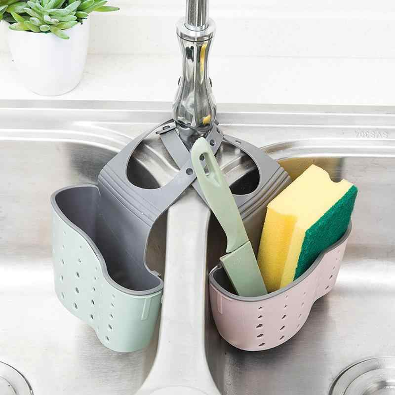 organizador de herramientas de almacenamiento de agua greenwoodhomer cuchara esponja caja de doble capa Cesta colgante para fregadero de cocina