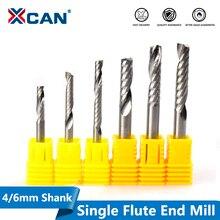 XCAN 1pc 단일 플루트 나선형 엔드 밀 초경 밀링 커터 CNC 라우터 비트 스트레이트 생크 엔드 밀