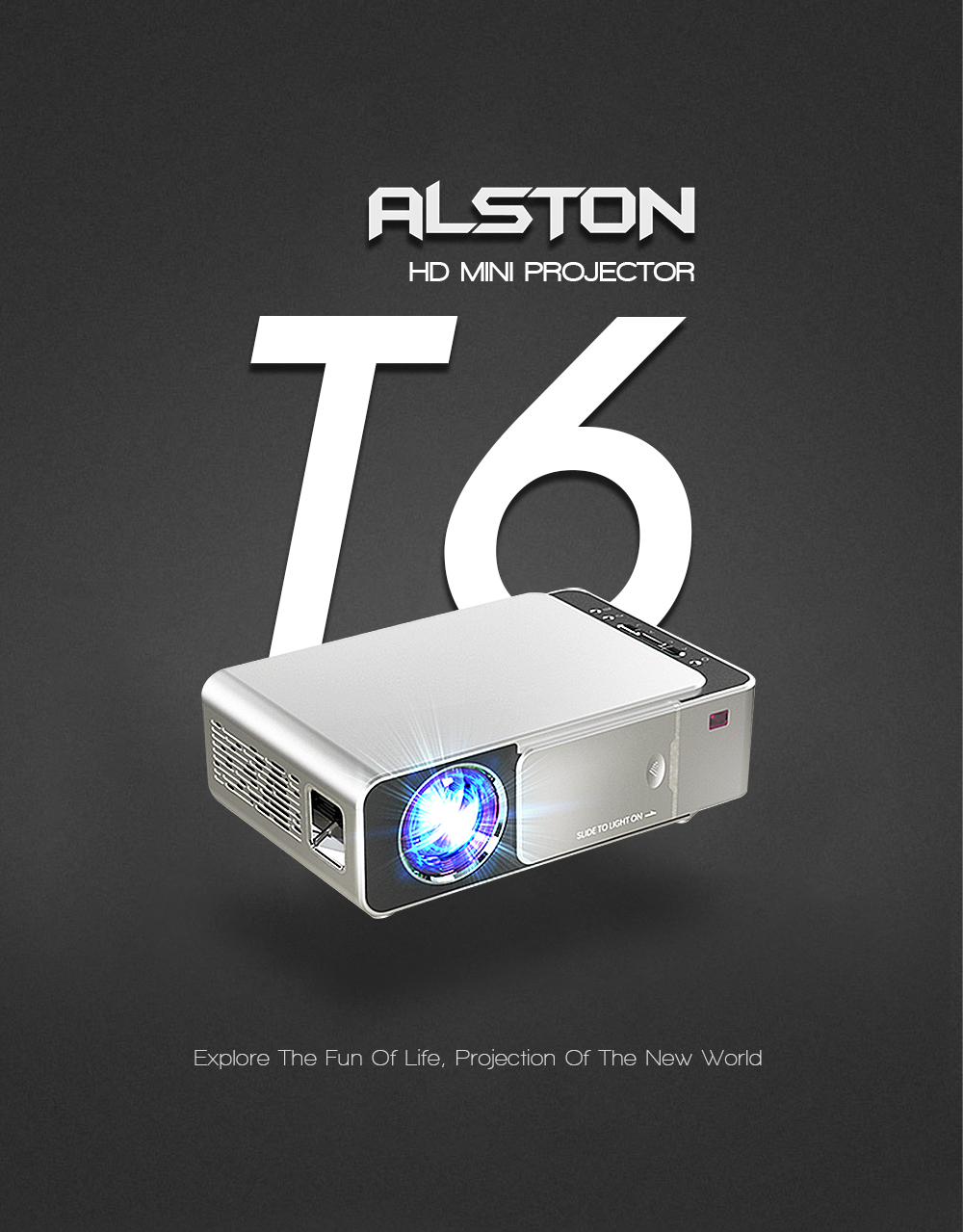 T6 Full hd led Projector 4k 3500 Lumens HDMI USB 1080p Portable Cinema Proyector Beamer with Mysterious Gift