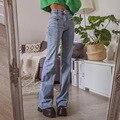 ARIES 90s в уличном стиле с рисунком пентаграммы патчи с низкой талией джинсы для женщин эстетическое джинсовые брюки уличный стиль, модная оде...