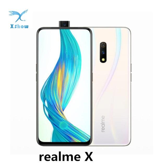 "Realme X Mobiele Telefoons 6.53 ""Android 9.0 2340X1080 48.0MP Vingerafdruk Snapdragon 710 4G Lte Mobiele Telefoon"
