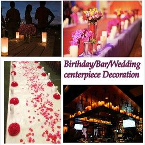 Image 5 - 12 pcs LED Rechargeable Flameless Tea Light Candle set electric votives waxless safe romantic birthday wedding church bar decor