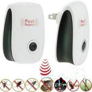 Electronic Repellent Ultrasonic-Pest-Repeller Reject Eu-Plug Hot Rat Mice US White