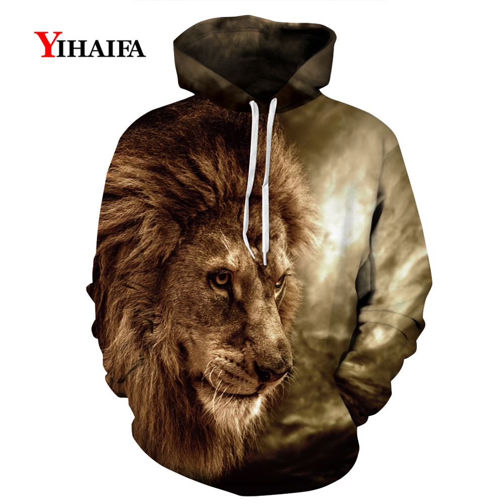 Mens Womens 3D Hoodies Vintage Lion Animal Graphic Sweatshirt Casual Coat Pullover Unisex Funny Tracksuit Hip Hop Tops in Hoodies amp Sweatshirts from Men 39 s Clothing