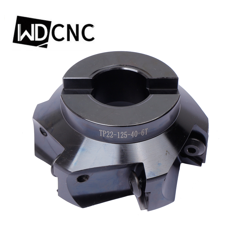 TP22 100-32-5T Square shoulder Indexable face milling cutter for TPKN2204 blade