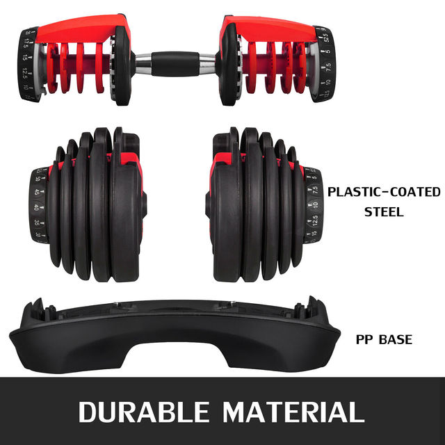 1Pcs 24kg Adjustable Selectable Dumbbells Weights Home Gym 52lbs  3