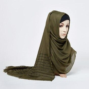 80*180CM New Muslim Women Scarf Hijab Cotton Linen Shawl Stripes Islamic Head Wrap Stole Scarve Long Scarf Soft Headscarf Turban 80 180cm new muslim women scarf hijab cotton linen shawl stripes islamic head wrap stole scarve long scarf soft headscarf turban