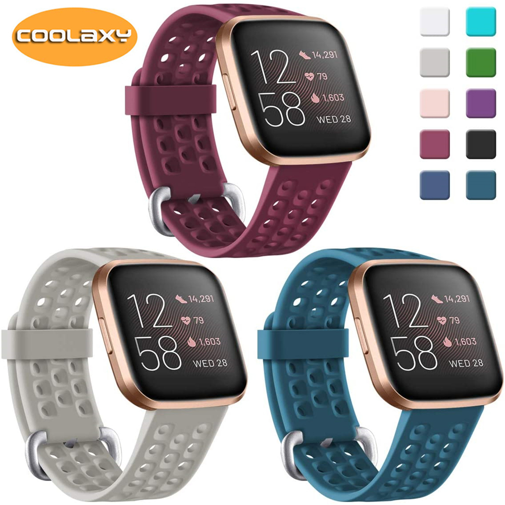Replacement Band For Fitbit Versa/Versa 2 Strap Soft Silicone Waterproof Wrist Accessories Watch Strap For Fitbit Versa 2