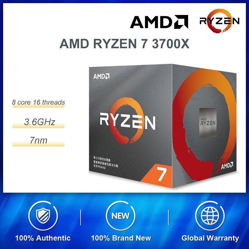New AMD Ryzen 7 3700X R7 3700X 3.6 GHz 8 Core 16 Threads 65W 3 Gen Ryzen Processor Socket AM4 Desktop Sealed Box With Cooler Fan