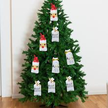 50PCS 2020 Christmas Candy Bags Santa Claus Xmas Tree Packing Happy New Year Merry Gift for home decoration