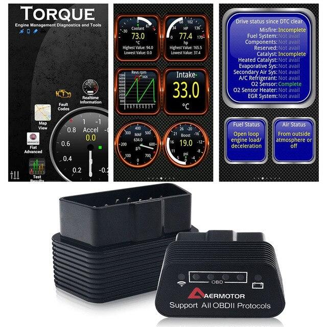 Wifi Bluetooth ELM327 OBD2 II herramientas de diagnóstico de coche para Infiniti Suzuki Subaru AMG Mercedes Benz DE LA CIA W204 W210 W221 W211 escáner