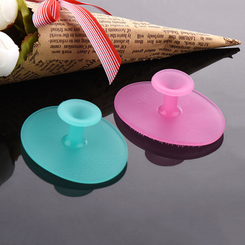 1pcs new arrival  Infant Baby Soft Silicone Wash Face Cleaning Pad Facial Exfoliating Brush SPA Skin Scrub Cleanser Tool