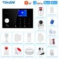 Система сигнализации Towode G34 Tuya GSM 4G с цветным дисплеем, аксессуары для умного дома, спасательная IP-камера, «сделай сам»