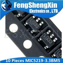 10 pçs/lote MIC5219-3.3BM5 Regulador LDO SOT-23 MIC5219-3.3 3.3V MIC5219-3.3YM5 LG33